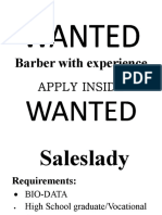 Barber With Experience
