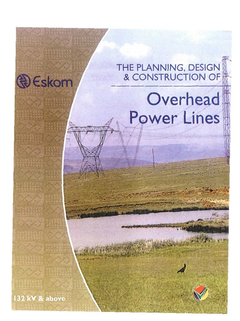 eskom overhead power lines the planning design construction