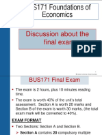 BUS171 Final Exam Discussion and Revision