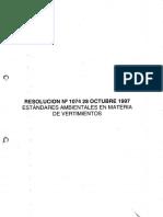 Resolucion No. 1074 de 1997