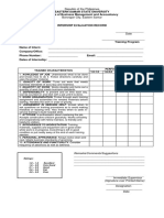 Evaluation Record