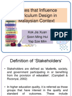 Forces That Influence Curriculum Design in Malaysian Context