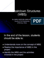 Work Breakdown Structures (WBS)