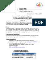 Convocatoria Maestria en Farmacia 2018 Revisada 16052017pdf
