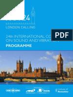 ICSV24 Programme