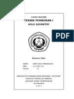 Hole Geometry