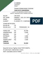 Contoh Struk Pln