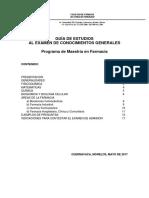 Guia Estudios Examen Conocimientos MAESTRIA 2018 1