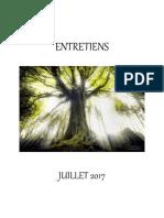 Entretiens de Juillet 2017 - Livre PDF
