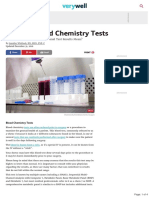 Blood Chemistry Tests