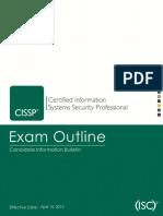 Cissp Exam Outline April 2015