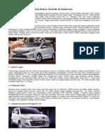 8 Mobil Murah Irit Bahan Bakar Terbaik Di Indonesia