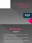 Ict Role in Eduction