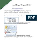 Membuat Tombol Hapus Dengan VBA Di Excel