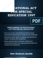 Educational Act for Special Education 1997