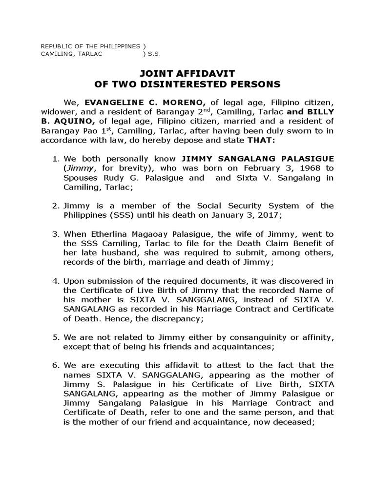 Joint affidavit jimmy mothers name affidavit identity joint affidavit jimmy mothers name affidavit identity document yadclub Images