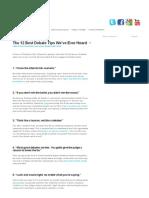 The 12 Best Debate Tips We'Ve Ever Heard « Debate Central _ Free Debate Resources