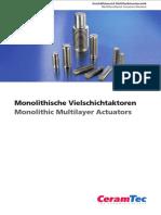 Actuadores monolíticos multicapa