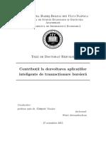 STAN Alexandru Ioan - Contributii la dezvoltarea aplicatiilor inteligente de tranzactionare bursiera