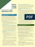 Housing Development Control and Licensing Amendment Act 2012 Amendment Regulations 2015