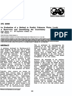 An Evaluation of a Method to Predict Unknown Water Levels in Reservoirs and Quantifying the Uncertainty,SPE-29466-MS
