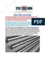 Alloy 800 Round Bar