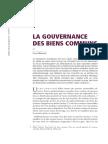 2010 La Gouvernance Des Biens Communs