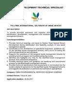 Business Development Technical Specialist