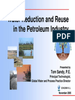Water Reduction and Reuse in the Petroleum IndustryNovember