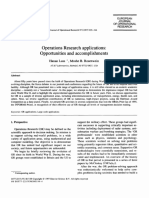 Article- Operations Research Applications