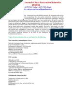 International Journal of Next Generation Networks