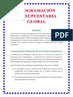 Programación Presupuestaria Global