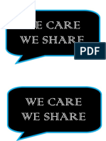 We Care We Share