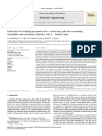 Evaluation of Leaching Parameters for a Refractory Gold