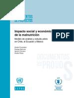 Impacto Social y Economico de La Malnutrición