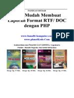 Script PHP Membuat Report Format Doc dan Rtf
