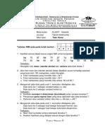Soal Ujian Statistik