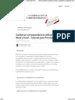 Combinar Correspondencia Utilizando Word y Excel