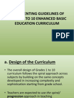 Implementing Guidelines of Grades 1 to 10 Enhanced.