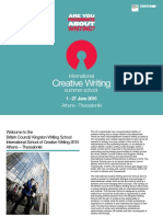 International Creative Writing Summer School 2015 Brochure