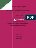 Customer behavior regarding Mutual Fund at Axis Bank