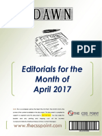 DAWN Editorials April 2017