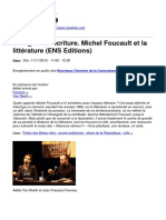 Citephilo.org - Vertige de l'Écriture. Michel Foucault Et La Littérature (ENS Editions) - 2015-03-31