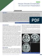 Journal Herpes simplex encephalitis
