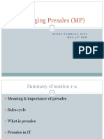 Managing Presales Session5-6