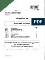 b2 Speaking Test Examiner Prompts Sample