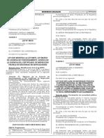 Ley que modifica la Ley N° 28976 Ley Marco de Licencia de Funcionamiento acerca de la vigencia del certificado de inspección técnica de seguridad en edificaciones