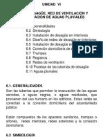 Inst.sanit.und 06 Redes de Desagüe-Ventilación -Aguas Pluviales