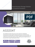 ASUSTOR AS3204T 4-Bay NAS Server Datasheet