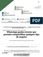 WhatsApp Ganha Recurso Que Permite Compartilhar Qualquer Tipo de Arquivo - InfoMoney